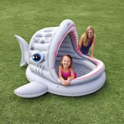 INTEX cápás gyerek medence, pancsoló, 201x109 cm