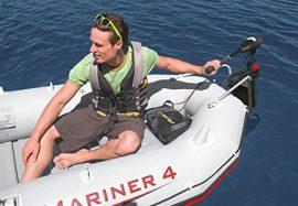 Intex szett , gumicsónak Mariner 4 + Elektromos csónakmotor 40lbs + motortartó