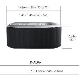 MSpa medencetest Delight Alpine D-AL06 6 fő